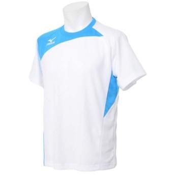 (セール)MIZUNO(ミズノ)メンズスポーツウェア 半袖ベーシックTシャツ 半袖機能Tシャツ 32JA502701 メンズ ホワイト