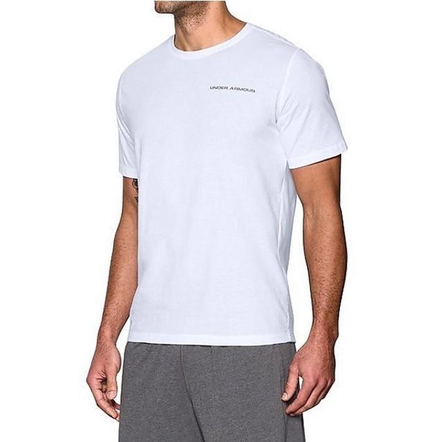 (セール)UNDER ARMOUR(アンダーアーマー)メンズスポーツウェア 半袖機能Tシャツ UA CHARGED COTTON SS T MTR3181 メンズ WHT