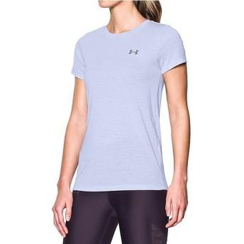 (セール)UNDER ARMOUR(アンダーアーマー)レディーススポーツウェア Tシャツ UA THREADBORNE TRAIN SS STRIPE 1289652 レディース LAVENDER ICE/WHITE/...