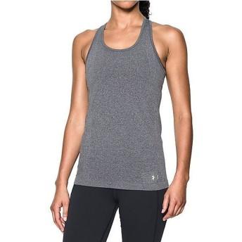 (セール)UNDER ARMOUR(アンダーアーマー)レディーススポーツウェア Tシャツ UA THREADBORNE SEAMLESS TANK 1286242 レディース CARBON HEATHER/METALL...