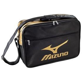 (セール)MIZUNO(ミズノ)スポーツアクセサリー エナメルバッグ エナメルバッグ(L) 33JS601090 90ブラックxゴールド