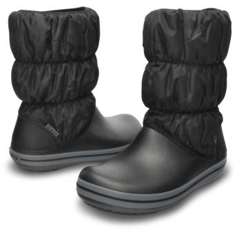 【クロックス公式】 ウィンター パフブーツ ウィメン Women's Winter Puff Boot ウィメンズ、レディース、女性用 ブラック/黒 22cm,23cm,25cm,26cm boot ブーツ