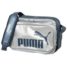 PUMA(プーマ)スポーツアクセサリー エナメルバッグ エナメルバッグ TSマットASB タイプB ショルダー M 072404 03 SIV/NVY ユニセックス