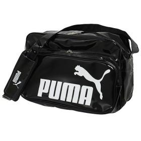 PUMA(プーマ)スポーツアクセサリー エナメルバッグ エナメルバッグ TSシャイニー タイプB ショルダー L 072401 01 BLK/WHT ユニセックス