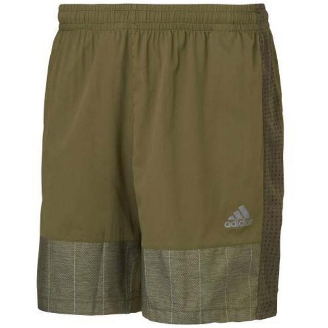 (セール)adidas(アディダス)ランニング メンズショーツ パンツ adiSN リフレクト リフレクトショーツ 7インチ M36462 メンズ GREEN