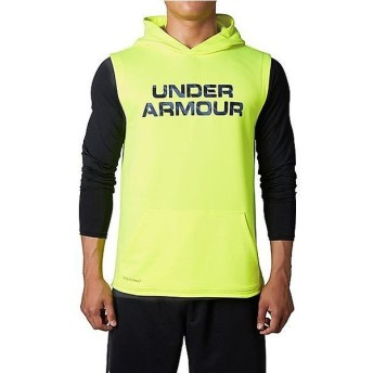 (セール)UNDER ARMOUR(アンダーアーマー)野球 ウォームアップ UA BASEBALL AS HOODY SL 1295452 メンズ HIGH-VIS YELLOW