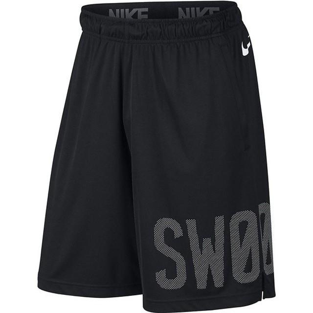 (セール)NIKE(ナイキ)メンズスポーツウェア ショートパンツ ナイキ DRI-FIT ドライ バー SWOOSH ショート 833264-010 メンズ ブラック/(ホワイト)