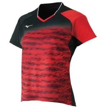 MIZUNO SHOP [ミズノ公式オンラインショップ] ドライサイエンスゲームシャツ(ラケットスポーツ)[レディース] 62 チャイニーズレッド 62JA8708