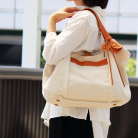 tanton:生成(倉敷帆布×栃木レザートートバッグ)