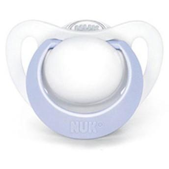 NUK(ヌーク) おしゃぶり・ジーニアス XSサイズ シリコーン ライトブルー