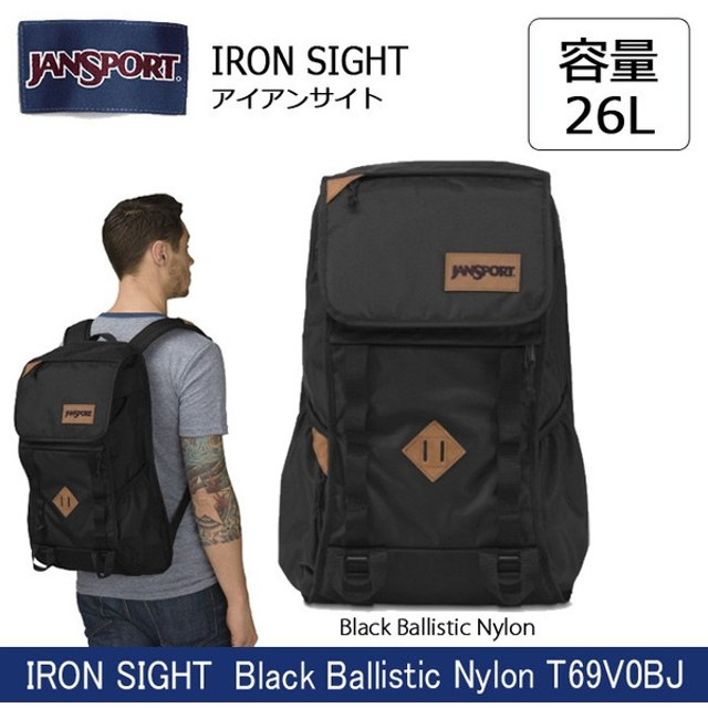 8947487ce6 ジャンスポーツ jansport IRON SIGHT(アイアンサイト) Black Ballistic Nylon T69V0BJ 【カバン】