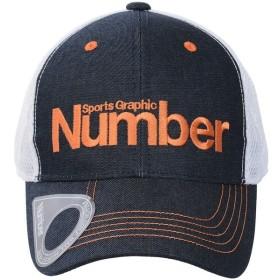 (セール)Number(ナンバー)ゴルフ アクセサリー デニムキャップ NB-S18-202-020 メンズ FREE ネイビー/オレンジ