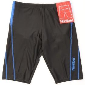 (セール)Number(ナンバー)スイミング メンズフィットネス メンズフィットネス水着ロングタイプ インナー付き NB-S16-301-006 メンズ ブラック/ブルー