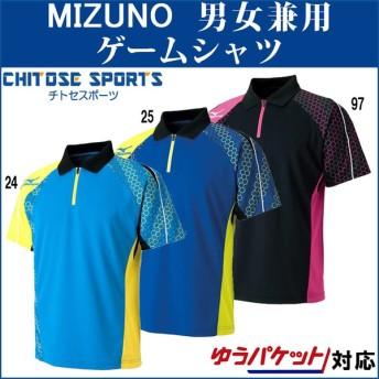 ミズノ ゲームシャツ(2016年卓球日本代表モデル) 82JA6003 ユニセックス 2018SS 卓球 取寄品 ゆうパケット(メール便)対応