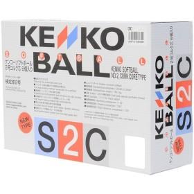 KENKO(ケンコー)野球 ソフトボール球 KENKO SOFT 2CORK BOX S2CP6NEW ジュニア WHT