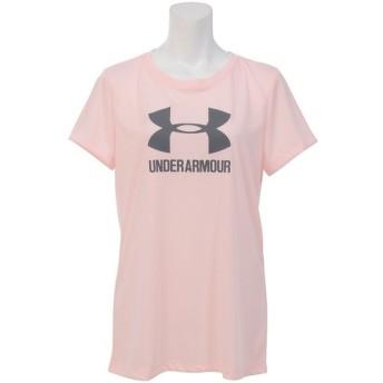 (セール)UNDER ARMOUR(アンダーアーマー)レディーススポーツウェア Tシャツ UA THREADBORNE TRAIN SPORT SS 1290609 レディース BALLET PINK/RHINO GR...