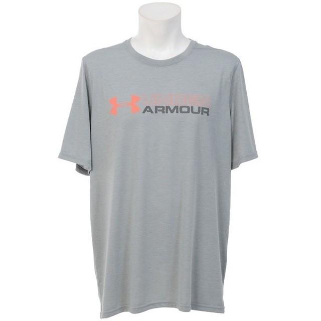 (セール)UNDER ARMOUR(アンダーアーマー)メンズスポーツウェア 半袖機能Tシャツ UA WORDMARK THREADBORNE SS 1290336 メンズ TRUE GRAY HEATHER/BLACK...
