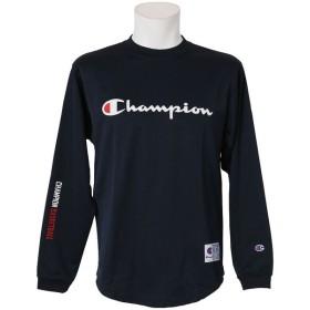 (セール)Champion(チャンピオン)バスケットボール メンズ 長袖Tシャツ THERMALGRID LONG TEE C3-LB441 メンズ ネイビー
