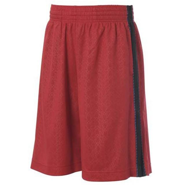 (セール)s.a.gear エスエーギア  バスケットボール メンズ バスケットエンボスプラショーツ レッド/ブラック S13-52-013 RED/BLK