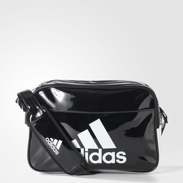(セール)adidas(アディダス)スポーツアクセサリー エナメルバッグ エナメル ショルダーM BIP40 AP3362 ブラック/ホワイト