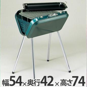バーベキューコンロ アーガス V型 グリル グリーン 鉄板付き ( キャプテンスタッグ 調理器具 アウトドア )