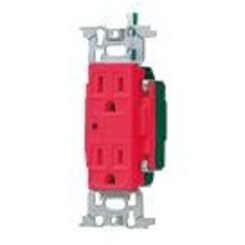 パナソニック 配線器具【WN13185RK】フルカラー医用埋込アース付ダブルコンセント(通電表示ランプ付)(赤)