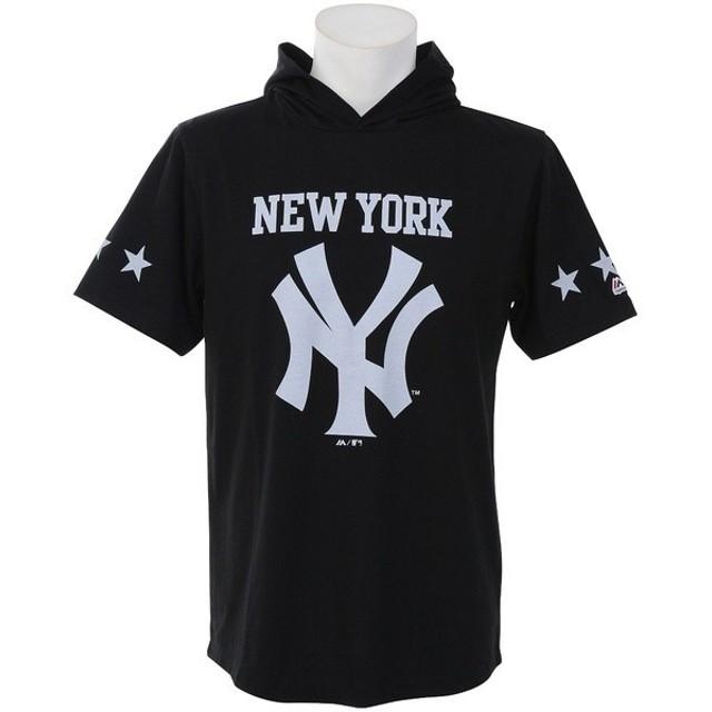 (セール)野球 MLB 侍 ジャケット ラウンド FRONT NY Tパーカー MM06-NYK-8S06 メンズ BLK1