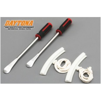 レビューで送料¥390 DAYTONA/デイトナ タイヤレバーセット 品番:90409 リムプロテクター 2本セット タイヤ交換工具