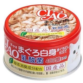 いなばペットフード CIAO チャオ 乳酸菌 まぐろ白身 まぐろだし仕立て (85g) キャットフード 猫缶