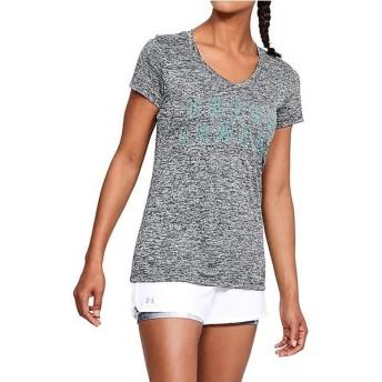 (セール)UNDER ARMOUR(アンダーアーマー)レディーススポーツウェア Tシャツ 18S UA TECH GRAPHIC TWIST SSV 1309898 5R3 レディース BLK/TTE/MSV