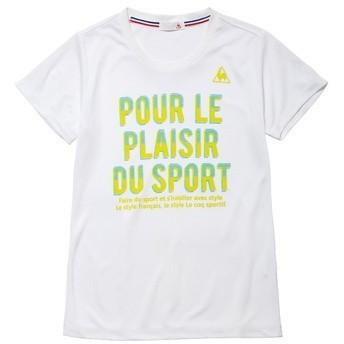 (セール)le coq sportif(ルコックスポルティフ) レディーススポーツウェア Tシャツ 半袖シャツ QMWLJA17 レディース WHT