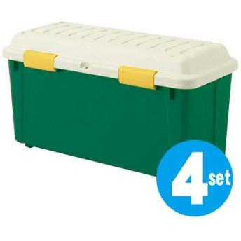 ■在庫限り・入荷なし■収納ボックス 頑丈箱 レジャータイプ M-6300 4個セット