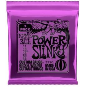 【ネコポス可】ERNIE BALL Power Slinky 11-48 Gauge【3Pack】 【3220】[Paradigm Electric Guitar Strings]【G-CLUB渋谷】