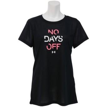 (セール)UNDER ARMOUR(アンダーアーマー)レディーススポーツウェア Tシャツ UA THREADBORNE NO DAYS OFF SS 1302220 レディース BLACK/PINK SHOCK/WHITE