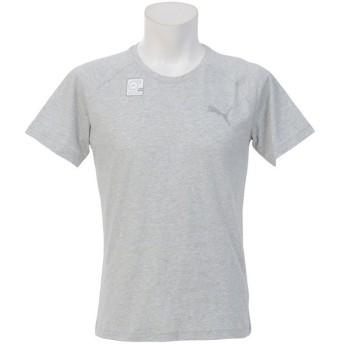 (セール)PUMA(プーマ)メンズスポーツウェア 半袖機能Tシャツ EVOSTRIPE SS Tシャツ 59268204 メンズ ライト グレー ヘザー