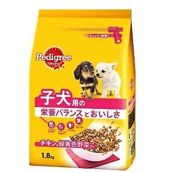 ペディグリー 子犬用 発育サポート 旨みチキン&緑黄色野菜入り (1.8kg)