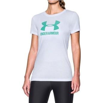 (セール)UNDER ARMOUR(アンダーアーマー)レディーススポーツウェア Tシャツ UA THREADBORNE TRAIN SPORT SS 1290609 レディース WHITE/ABSINTHE GREEN...