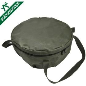 アソビト ダッチオーブン 12インチ 深型キャンプオーブン 防水帆布ケース ab-004