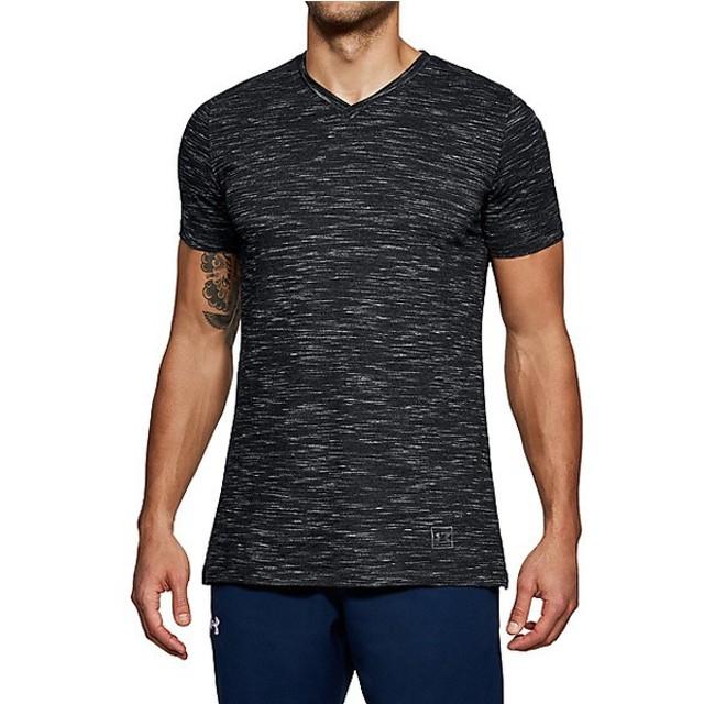 (セール)UNDER ARMOUR(アンダーアーマー)メンズスポーツウェア 半袖機能Tシャツ UA SPORTSTYLE CORE V NECK TEE 1306492 001 メンズ 001