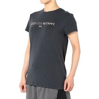 (セール)UNDER ARMOUR(アンダーアーマー)レディーススポーツウェア Tシャツ UA STOP FOR NOTHING SS 1302222 レディース ANTHRACITE/BALLET PINK/STEEL