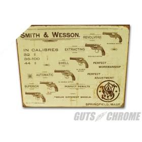 ガッツクローム GUTSCHROME メタルサイン Smith & Wesson