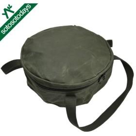 アソビト ダッチオーブン 10インチ 深型キャンプオーブン 防水帆布ケース ab-003