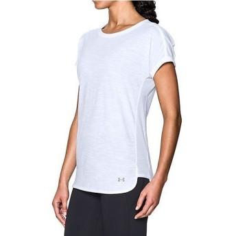 (セール)UNDER ARMOUR(アンダーアーマー)レディーススポーツウェア Tシャツ UA FASHLETE TEE 1290073 レディース WHITE/WHITE/STEEL