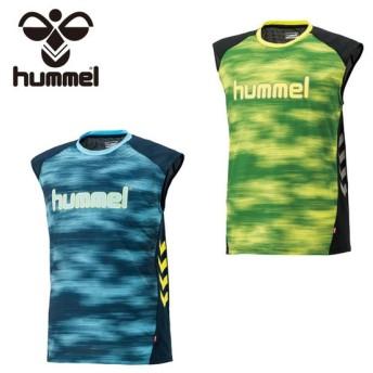ヒュンメル hummel ハンドボールウェア シャツ メンズ ノースリーブプラクティスシャツ HAP1136N