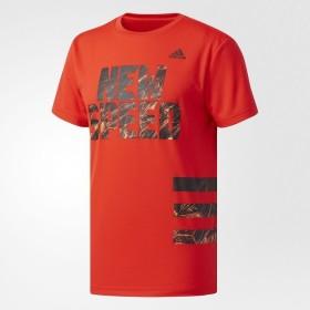 (セール)adidas(アディダス)野球 半袖Tシャツ NEW SPEED Tシャツ DUU49 CD2734 メンズ コアレッド S17