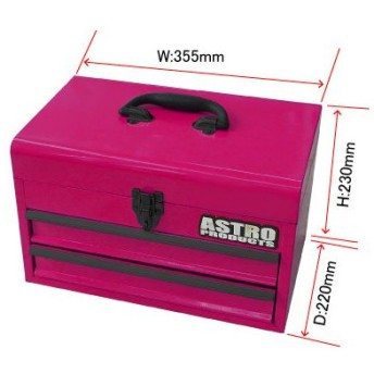 AP コンパクトツールボックス2段ベアリング ピンク(限定)