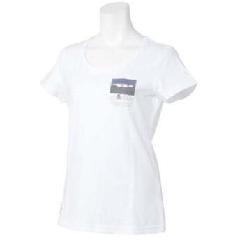 le coq sportif(ルコックスポルティフ) レディーススポーツウェア Tシャツ 半袖シャツ QL-035143 WHT レディース WHITE