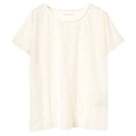 イーハイフンワールドギャラリー E hyphen world gallery レースTシャツ (Off White)
