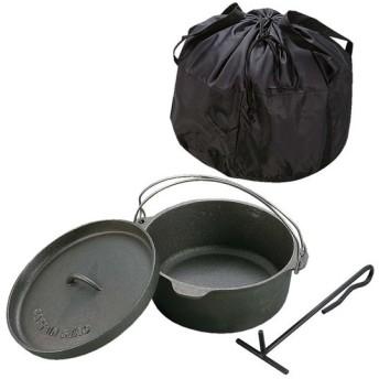 ダッチオーブンセット 鋳鉄製 25cm ( キャプテンスタッグ 調理器具 アウトドア )