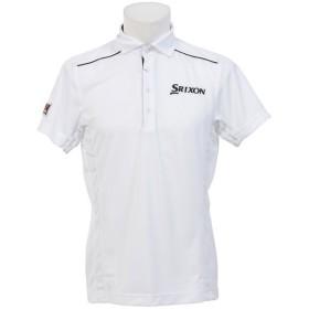 (セール)SRIXON(スリクソン)ゴルフ 半袖ポロ 半袖ハイネック サンスクリーンハンソデシャツ SRM1567S メンズ WHT